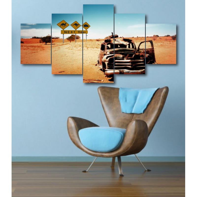 Wall Frames 5 Pieces Set Canvas - Digitally Printed Wall Canvas  post-331