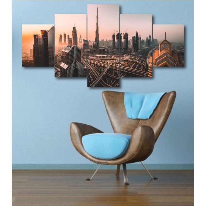Wall Frames 5 Pieces Set Canvas - Digitally Printed Wall Canvas  post-334