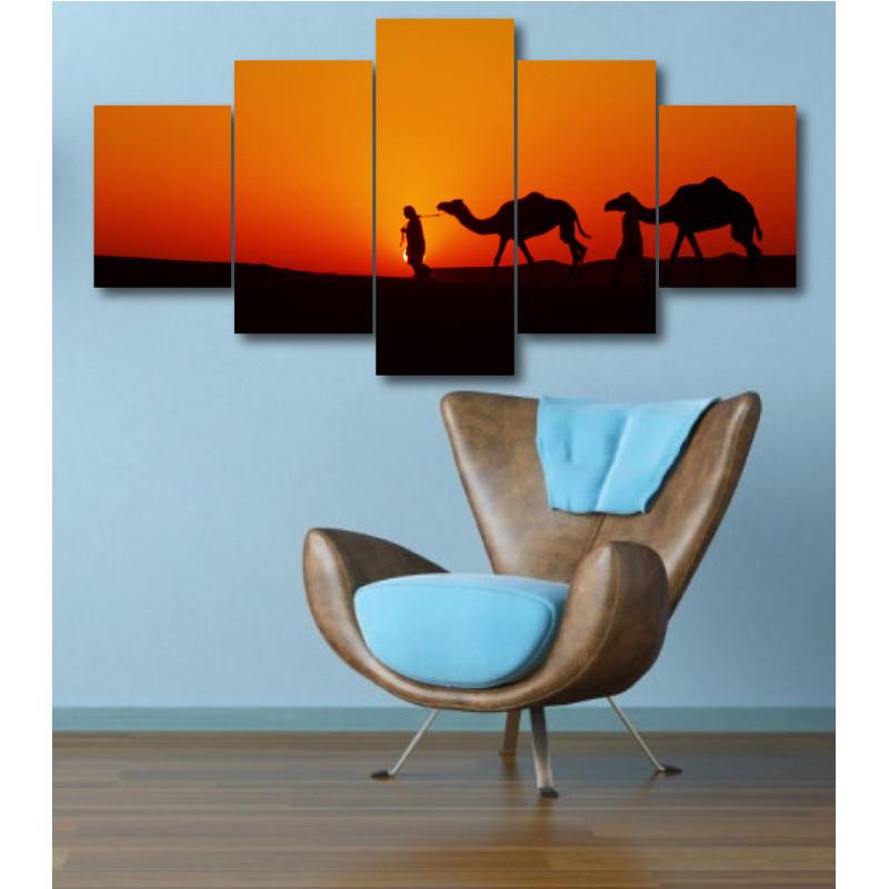 Wall Frames 5 Pieces Set Canvas - Digitally Printed Wall Canvas  post-337