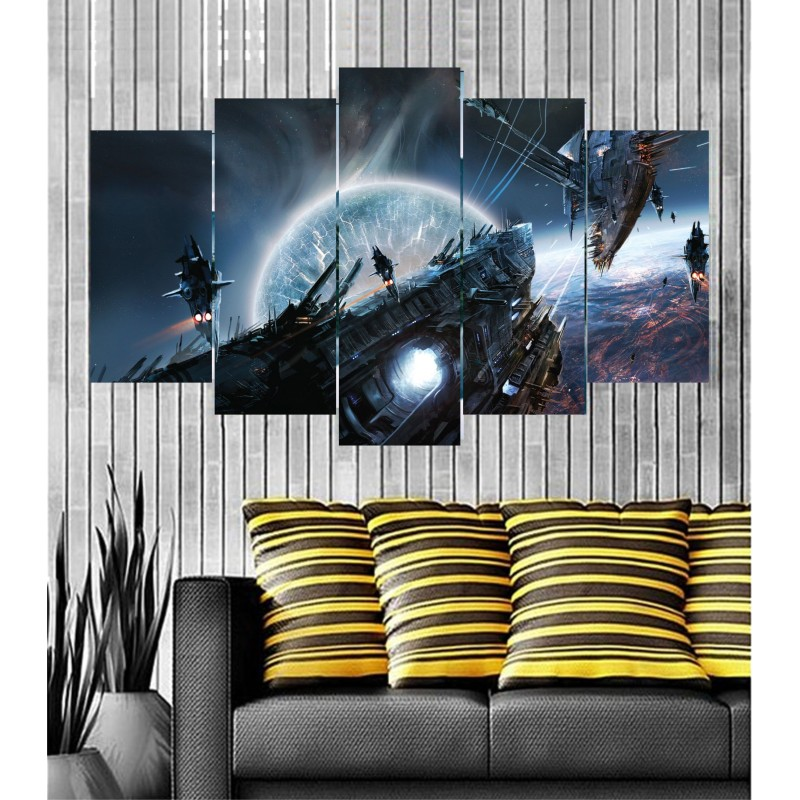 Wall Frames 5 Pieces Set Canvas - Digitally Printed Wall Canvas  post-34