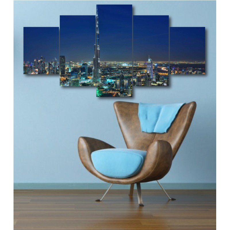 Wall Frames 5 Pieces Set Canvas - Digitally Printed Wall Canvas  post-340