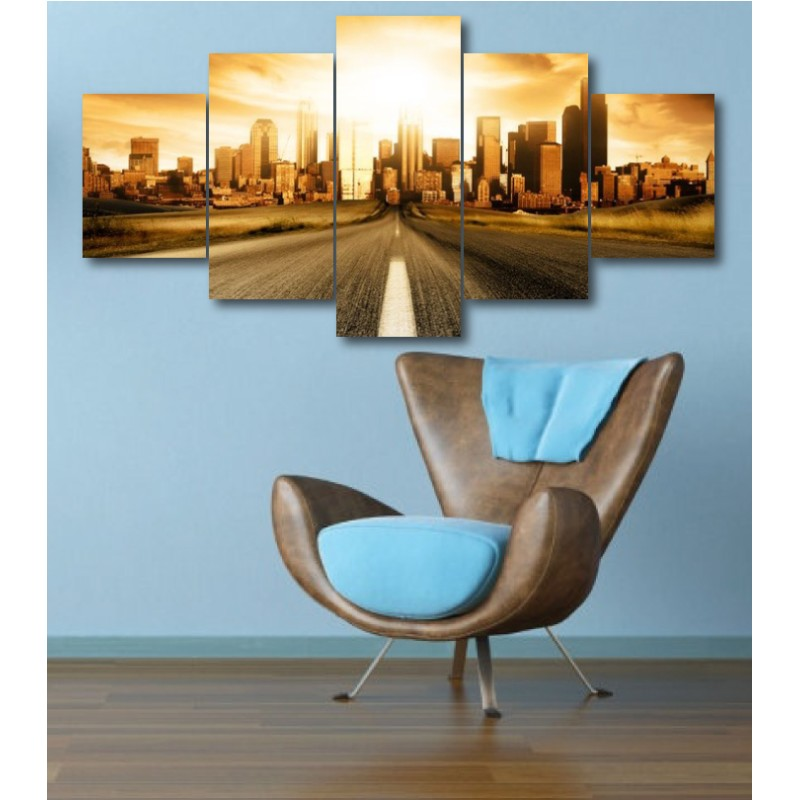 Wall Frames 5 Pieces Set Canvas - Digitally Printed Wall Canvas  post-341