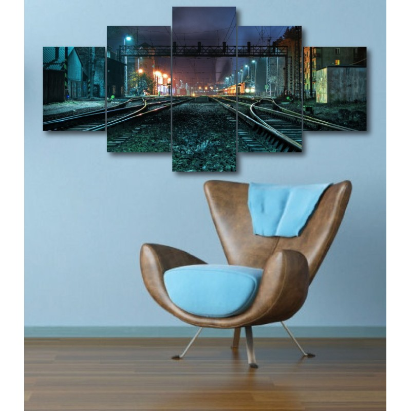 Wall Frames 5 Pieces Set Canvas - Digitally Printed Wall Canvas  post-345