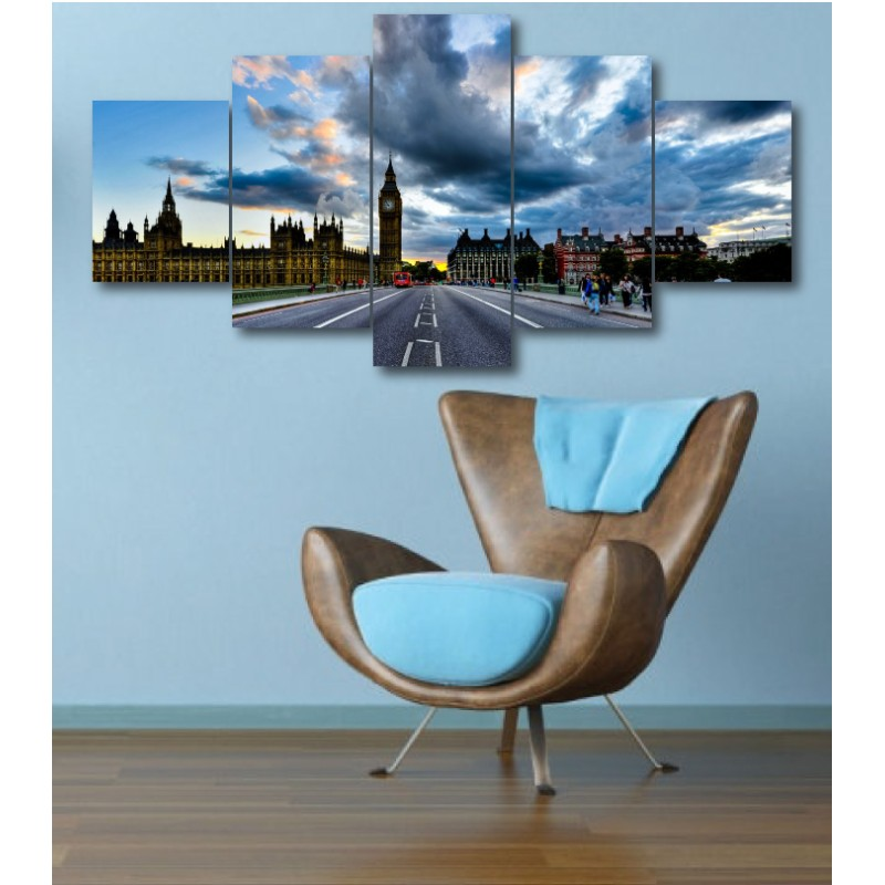 Wall Frames 5 Pieces Set Canvas - Digitally Printed Wall Canvas  post-348