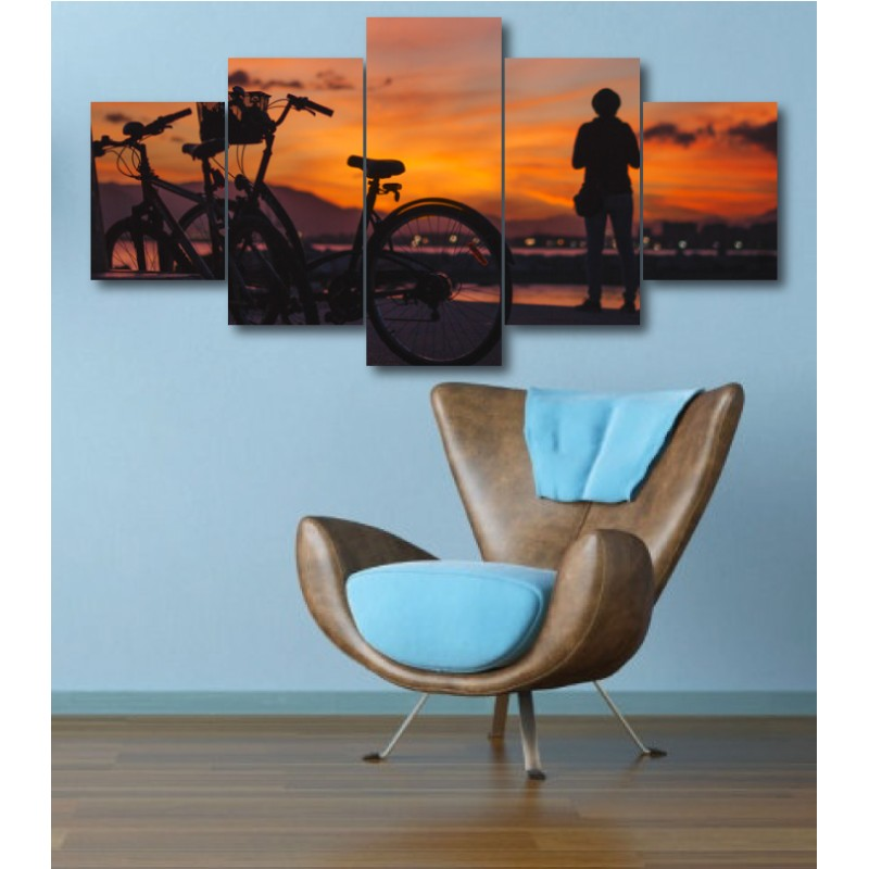 Wall Frames 5 Pieces Set Canvas - Digitally Printed Wall Canvas  post-349
