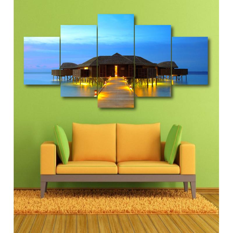 Wall Frames 5 Pieces Set Canvas - Digitally Printed Wall Canvas  post-351