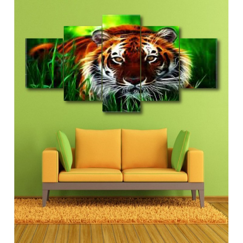 Wall Frames 5 Pieces Set Canvas - Digitally Printed Wall Canvas  post-352