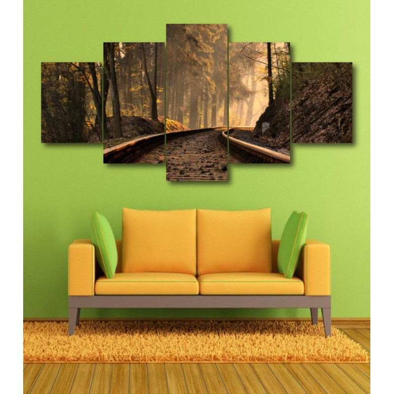 Wall Frames 5 Pieces Set Canvas - Digitally Printed Wall Canvas  post-353