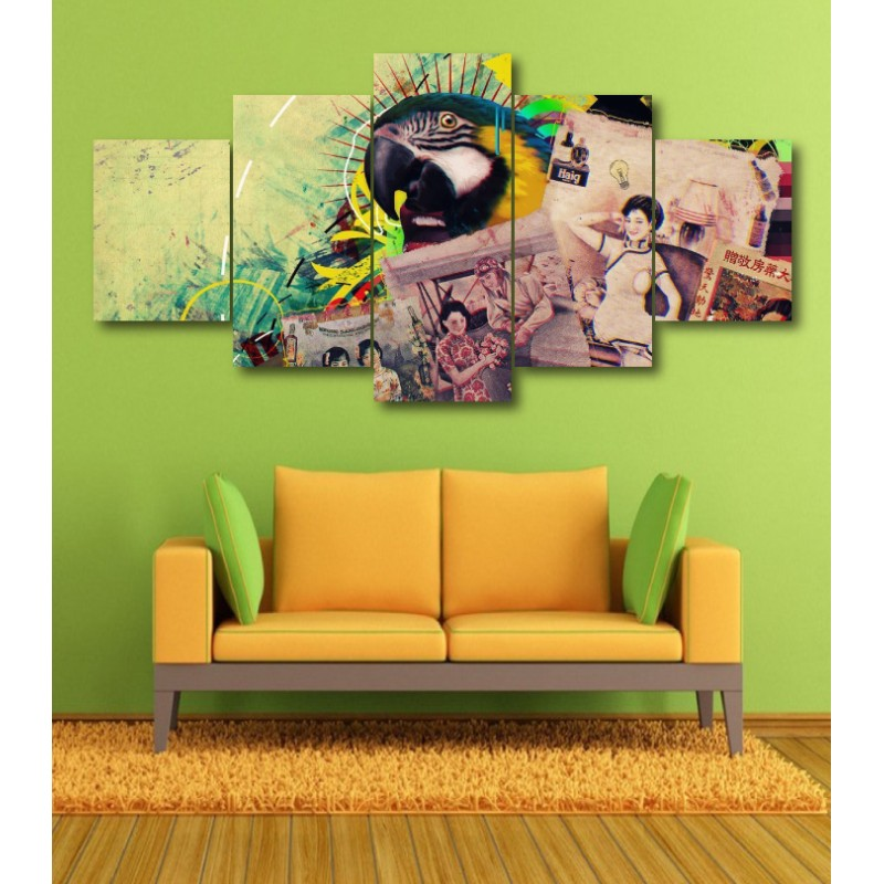 Wall Frames 5 Pieces Set Canvas - Digitally Printed Wall Canvas  post-354