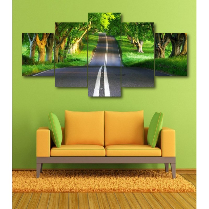 Wall Frames 5 Pieces Set Canvas - Digitally Printed Wall Canvas  post-356
