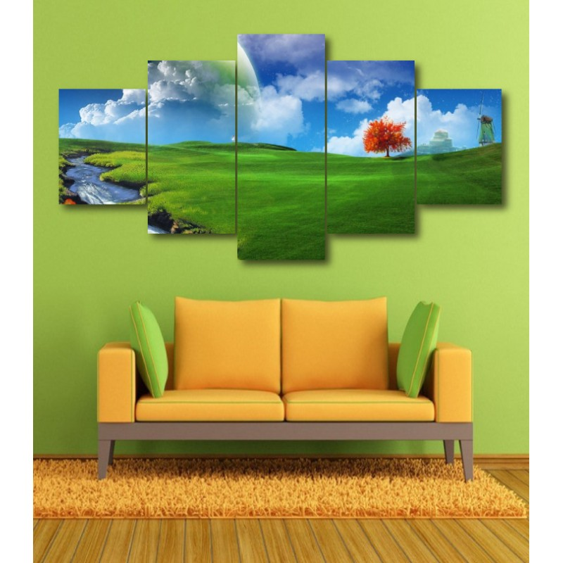 Wall Frames 5 Pieces Set Canvas - Digitally Printed Wall Canvas  post-358
