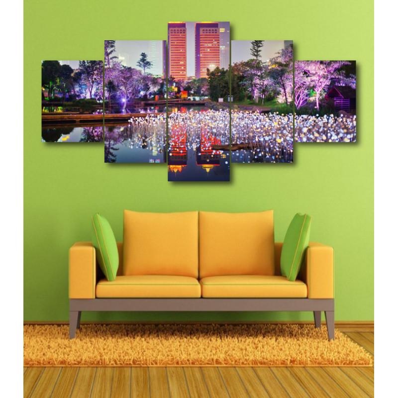 Wall Frames 5 Pieces Set Canvas - Digitally Printed Wall Canvas  post-362