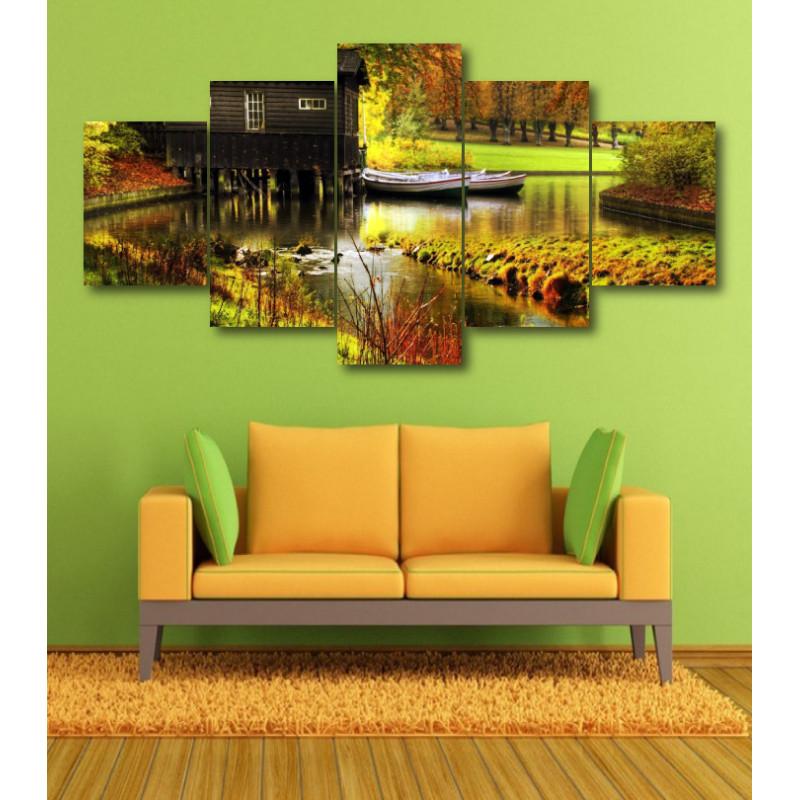 Wall Frames 5 Pieces Set Canvas - Digitally Printed Wall Canvas  post-363