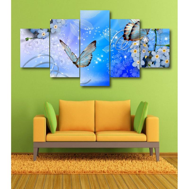 Wall Frames 5 Pieces Set Canvas - Digitally Printed Wall Canvas  post-364