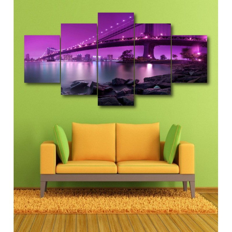Wall Frames 5 Pieces Set Canvas - Digitally Printed Wall Canvas  post-368