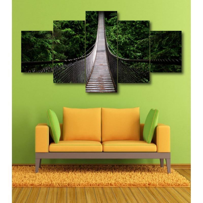 Wall Frames 5 Pieces Set Canvas - Digitally Printed Wall Canvas  post-369
