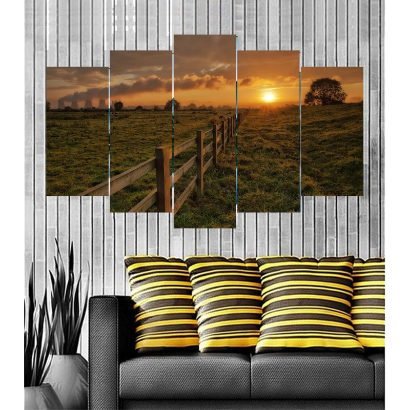 Wall Frames 5 Pieces Set Canvas - Digitally Printed Wall Canvas  post-37