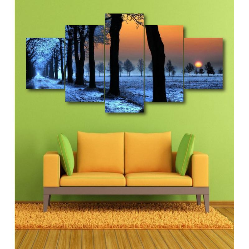 Wall Frames 5 Pieces Set Canvas - Digitally Printed Wall Canvas  post-370