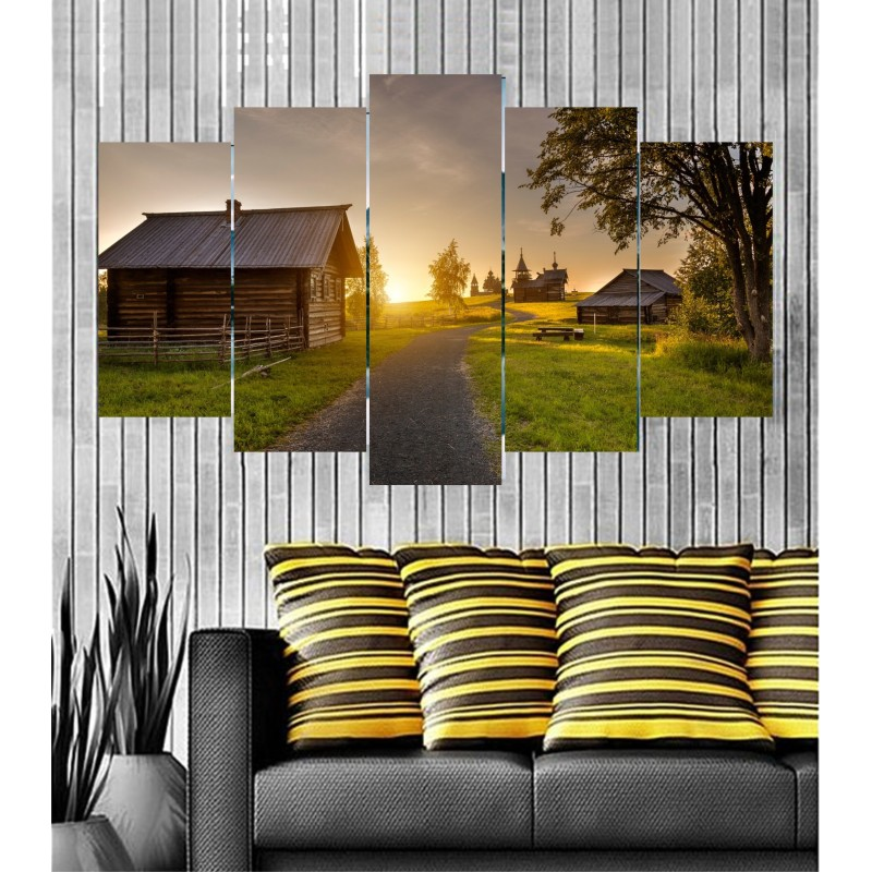 Wall Frames 5 Pieces Set Canvas - Digitally Printed Wall Canvas  post-38