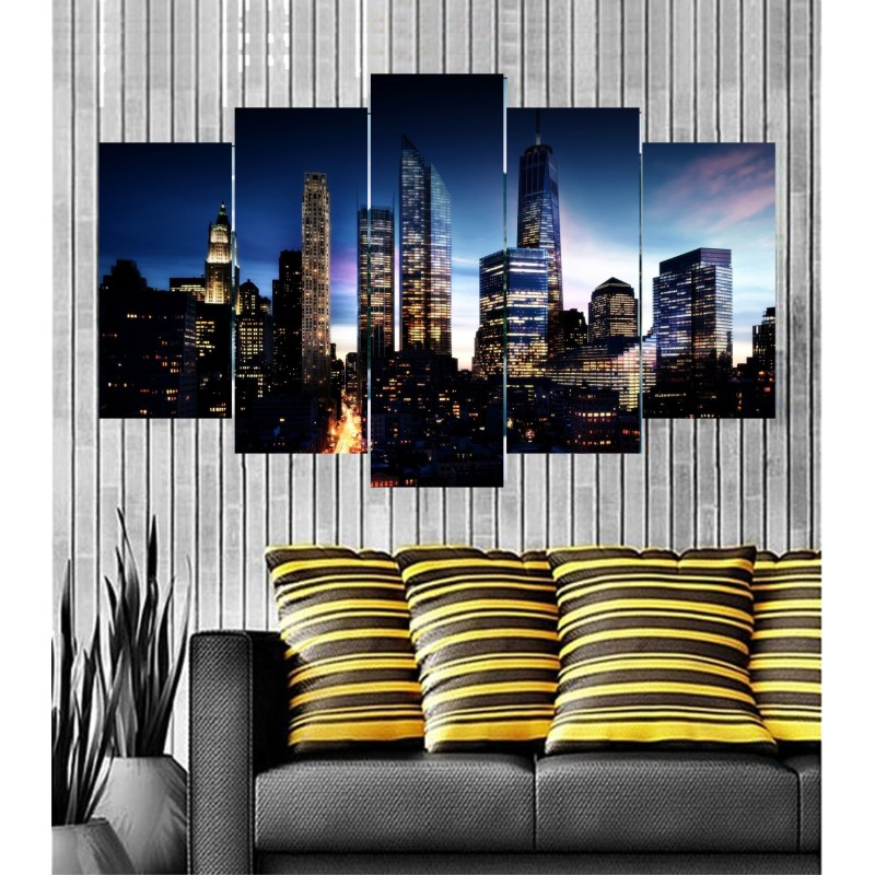 Wall Frames 5 Pieces Set Canvas - Digitally Printed Wall Canvas  post-39