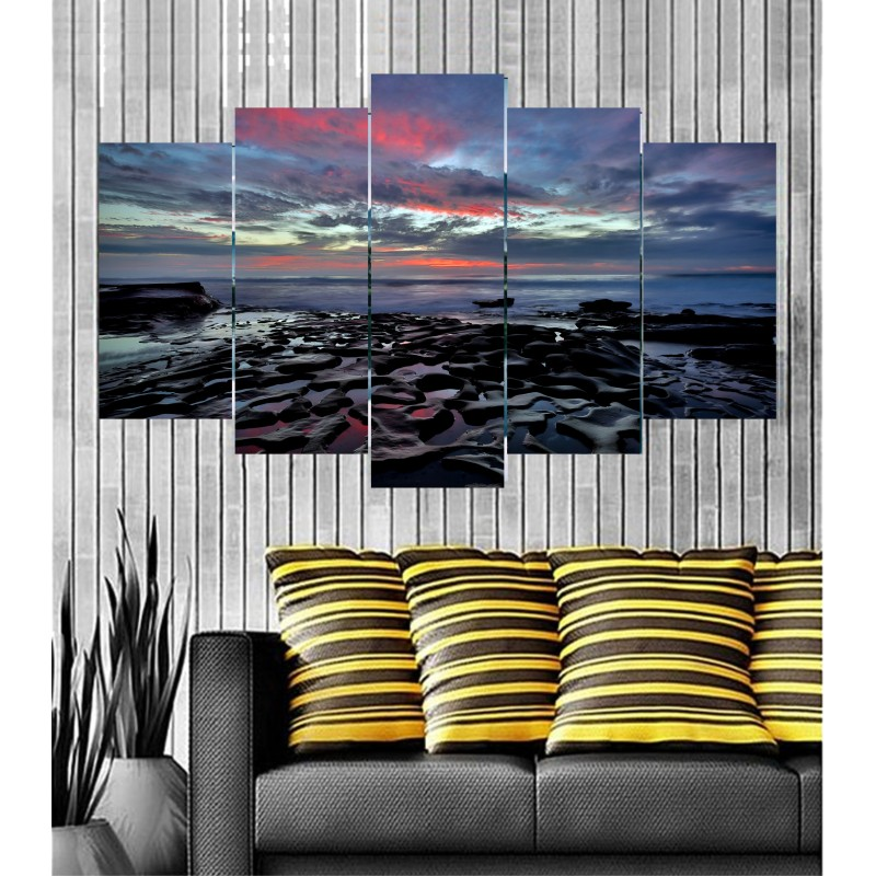 Wall Frames 5 Pieces Set Canvas - Digitally Printed Wall Canvas  post-41