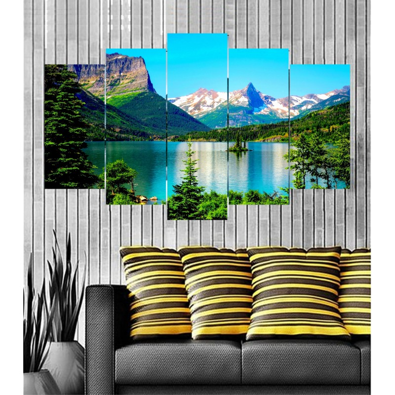 Wall Frames 5 Pieces Set Canvas - Digitally Printed Wall Canvas  post-45