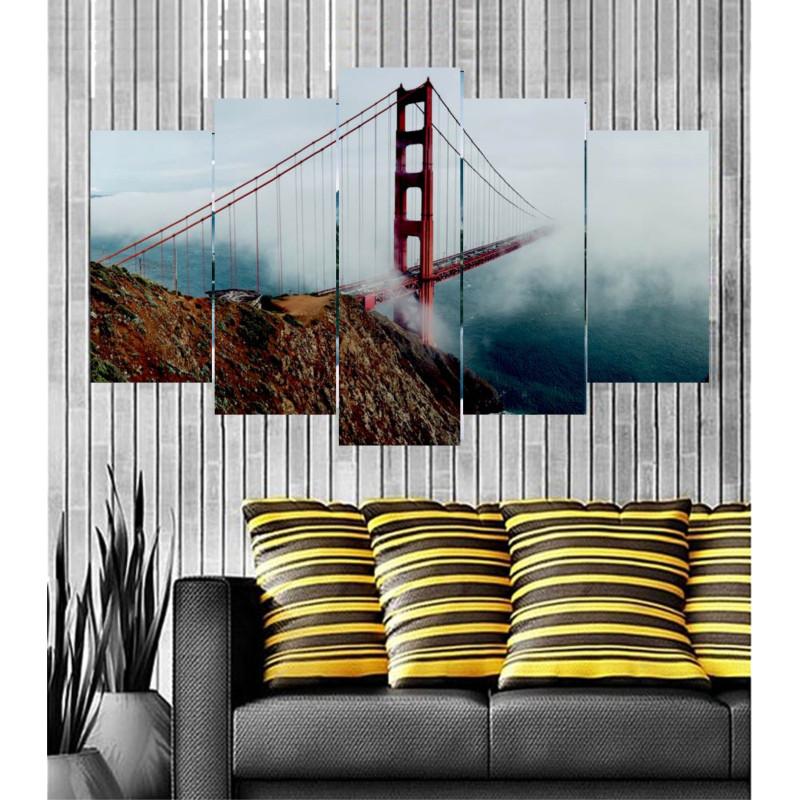 Wall Frames 5 Pieces Set Canvas - Digitally Printed Wall Canvas  post-46