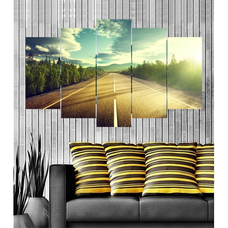 Wall Frames 5 Pieces Set Canvas - Digitally Printed Wall Canvas  post-48
