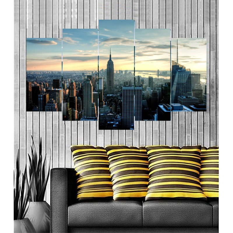 Wall Frames 5 Pieces Set Canvas - Digitally Printed Wall Canvas  post-49