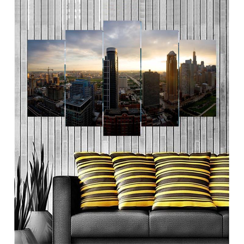 Wall Frames 5 Pieces Set Canvas - Digitally Printed Wall Canvas  post-51