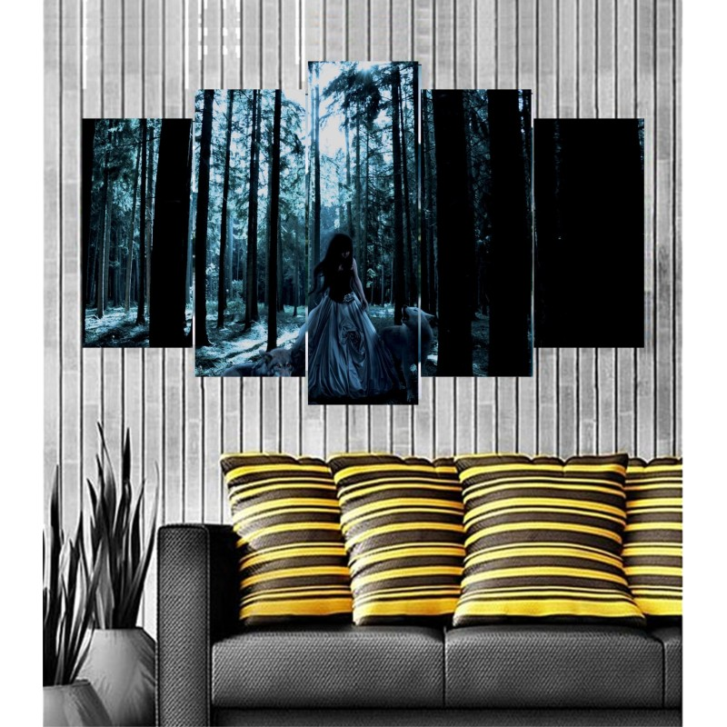 Wall Frames 5 Pieces Set Canvas - Digitally Printed Wall Canvas  post-56