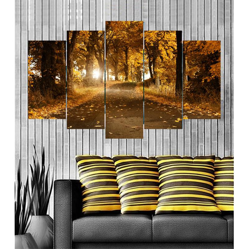 Wall Frames 5 Pieces Set Canvas - Digitally Printed Wall Canvas  post-66