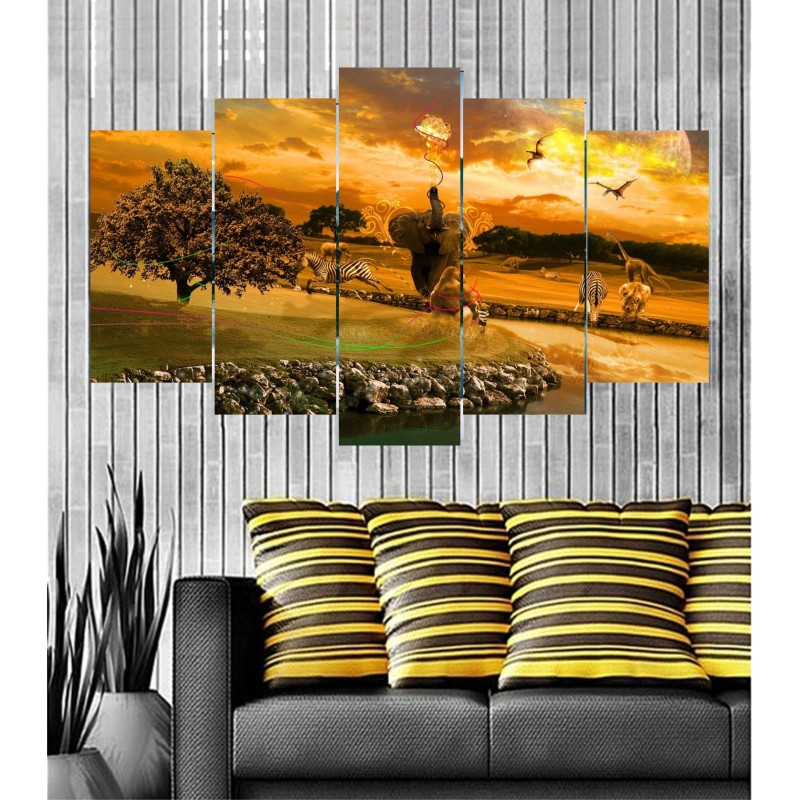 Wall Frames 5 Pieces Set Canvas - Digitally Printed Wall Canvas  post-67