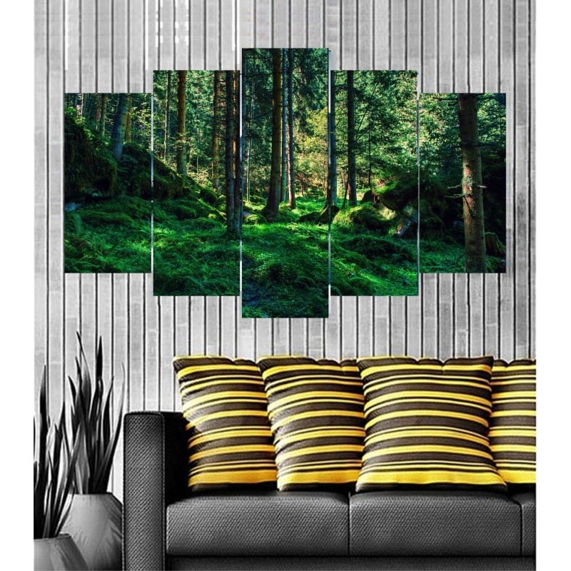 Wall Frames 5 Pieces Set Canvas - Digitally Printed Wall Canvas  post-68