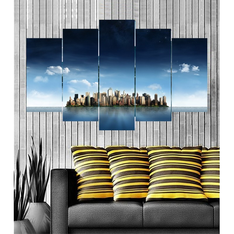 Wall Frames 5 Pieces Set Canvas - Digitally Printed Wall Canvas  post-70