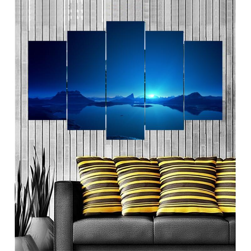 Wall Frames 5 Pieces Set Canvas - Digitally Printed Wall Canvas  post-77