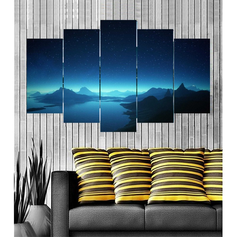 Wall Frames 5 Pieces Set Canvas - Digitally Printed Wall Canvas  post-78