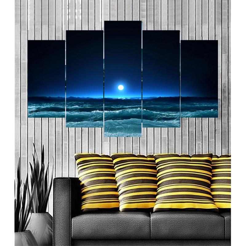 Wall Frames 5 Pieces Set Canvas - Digitally Printed Wall Canvas  post-79