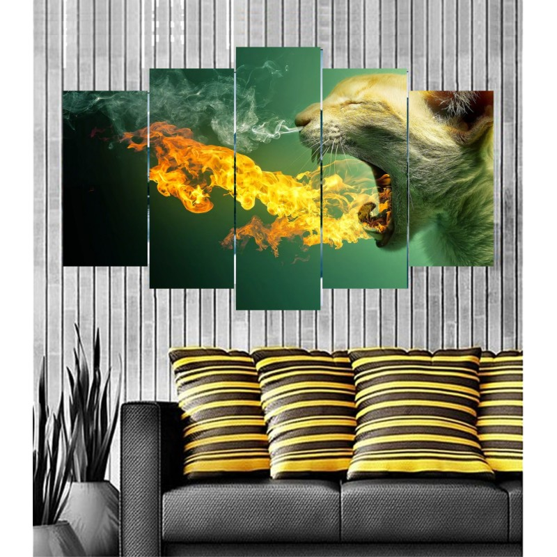 Wall Frames 5 Pieces Set Canvas - Digitally Printed Wall Canvas  post-80