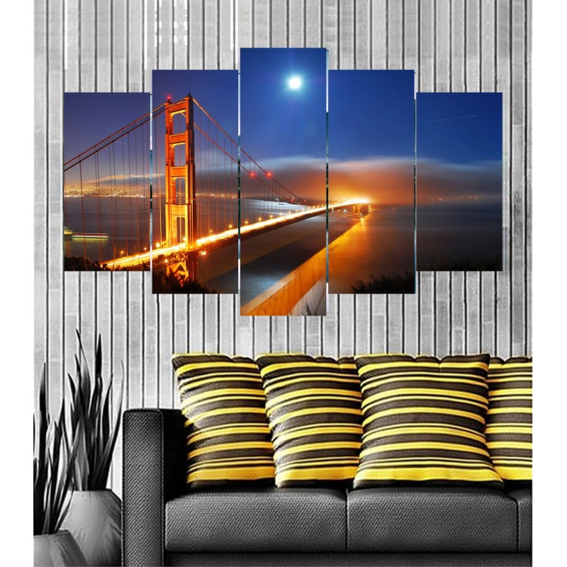 Wall Frames 5 Pieces Set Canvas - Digitally Printed Wall Canvas  post-84