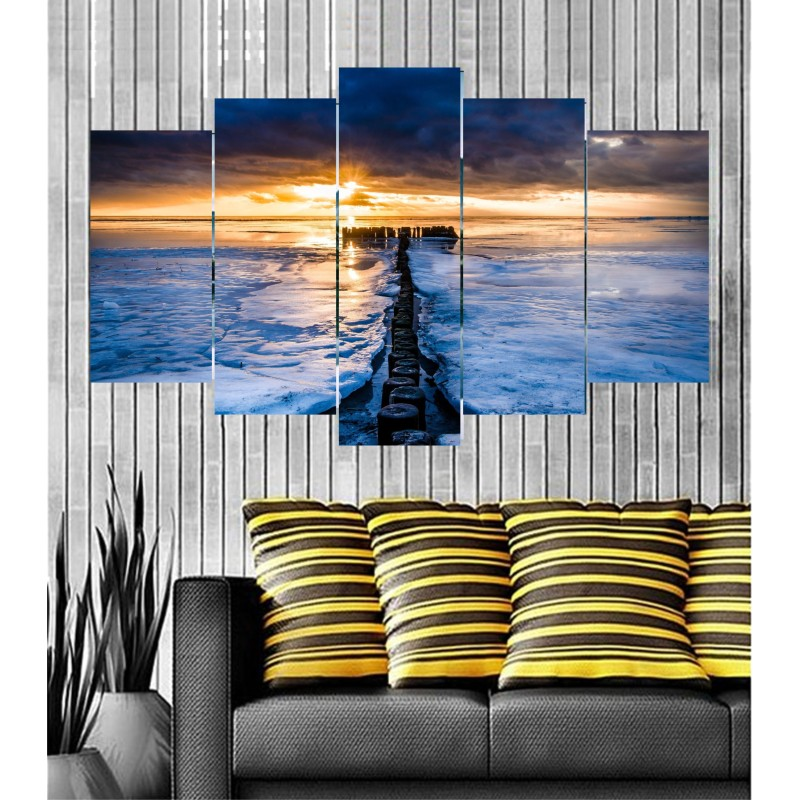 Wall Frames 5 Pieces Set Canvas - Digitally Printed Wall Canvas  post-85