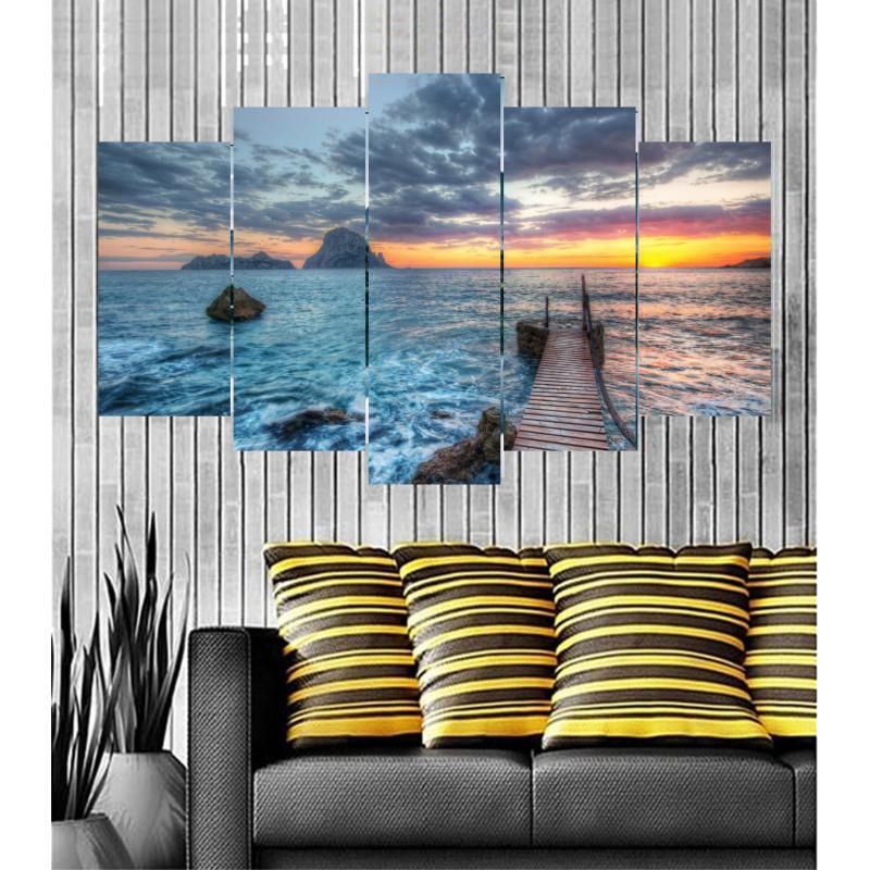Wall Frames 5 Pieces Set Canvas - Digitally Printed Wall Canvas  post-86