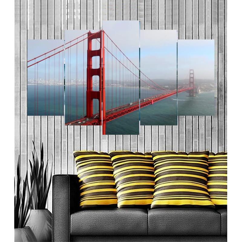 Wall Frames 5 Pieces Set Canvas - Digitally Printed Wall Canvas  post-87