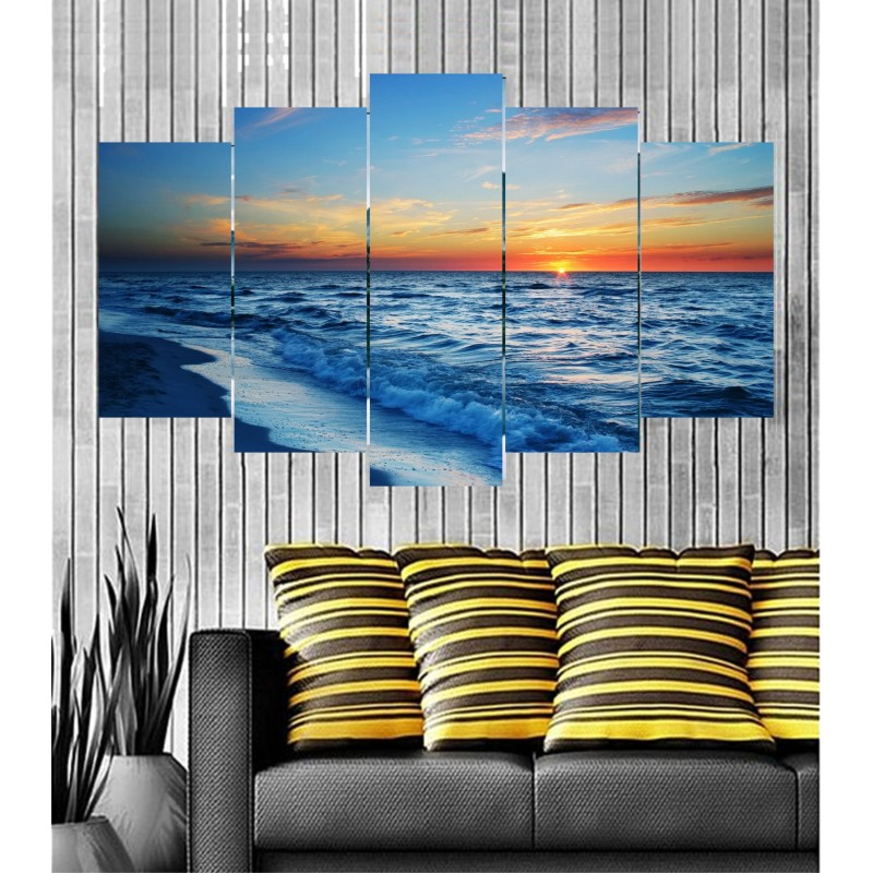 Wall Frames 5 Pieces Set Canvas - Digitally Printed Wall Canvas  post-88