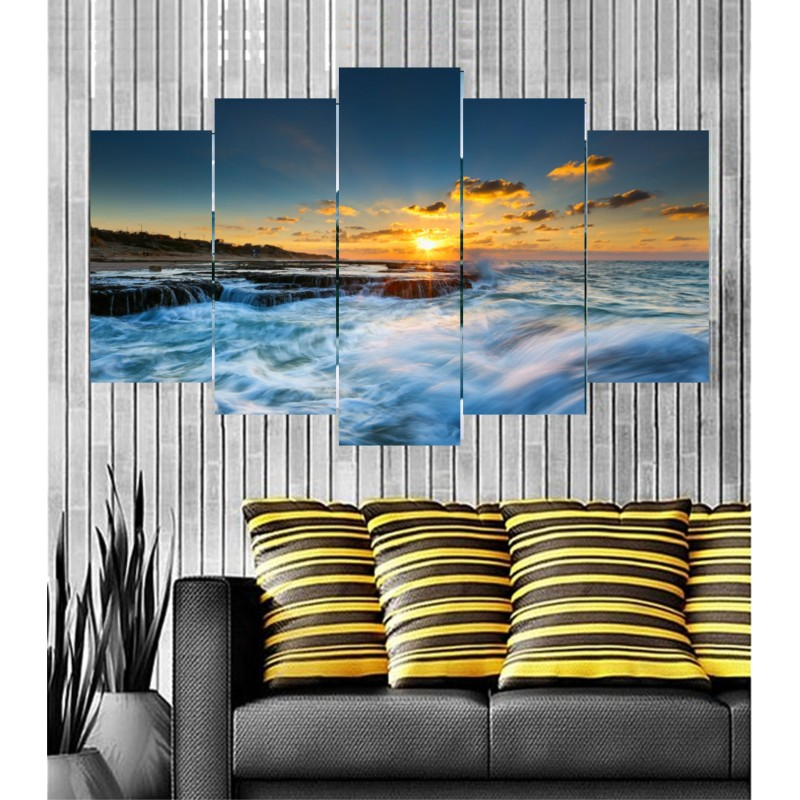 Wall Frames 5 Pieces Set Canvas - Digitally Printed Wall Canvas  post-89