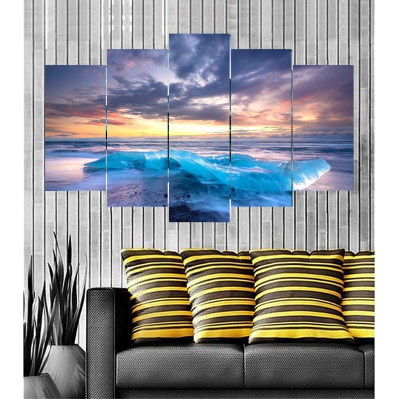 Wall Frames 5 Pieces Set Canvas - Digitally Printed Wall Canvas  post-90