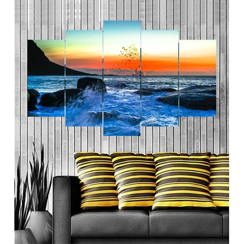 Wall Frames 5 Pieces Set Canvas - Digitally Printed Wall Canvas  post-91