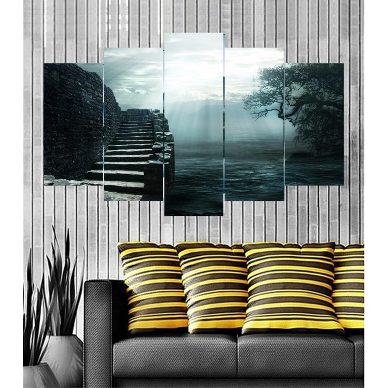 Wall Frames 5 Pieces Set Canvas - Digitally Printed Wall Canvas  post-93