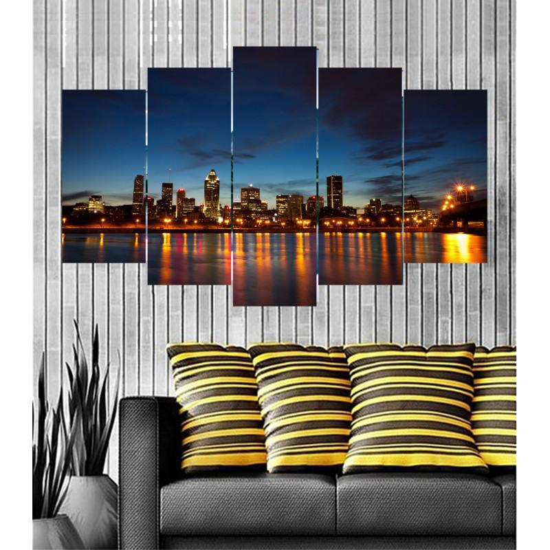 Wall Frames 5 Pieces Set Canvas - Digitally Printed Wall Canvas  post-94