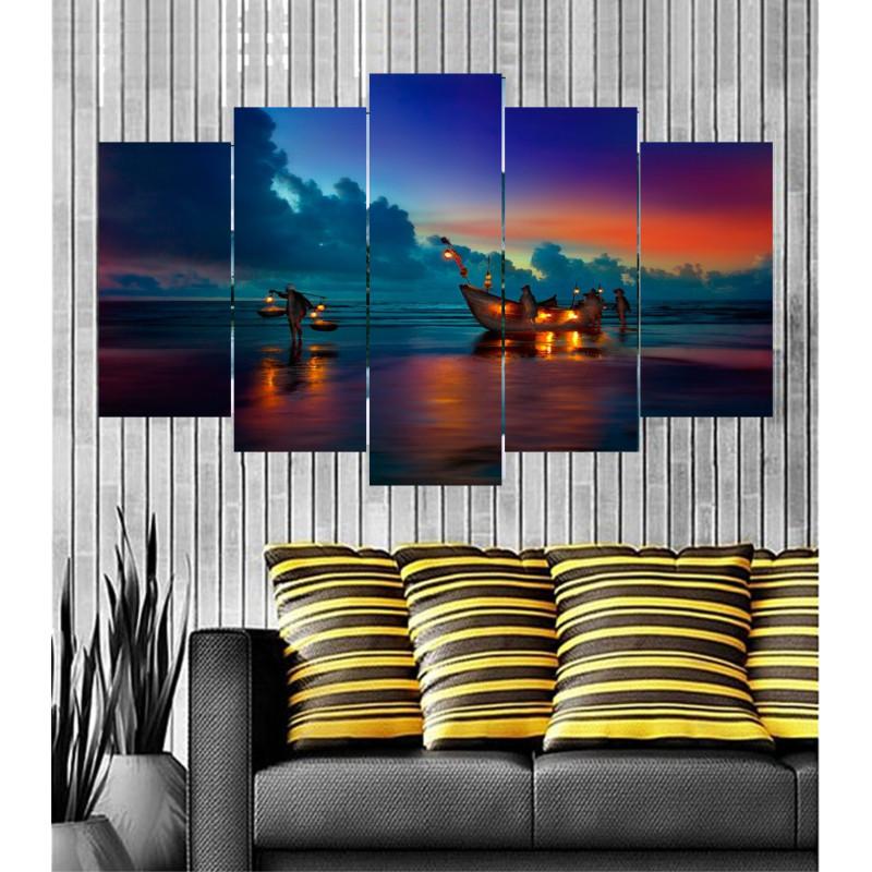 Wall Frames 5 Pieces Set Canvas - Digitally Printed Wall Canvas  post-95